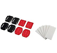4-piece set Flat/ Curved Mounts with Adhesive Pads with 12-Piece Set NoFog Anti-Fog Inserts Compatible with GoPro Camera