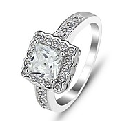Genuine 925 Anniversary Rings Engagement Rings Fashion Jewelry Silver Rings for Women