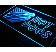 i083 OPEN Hot Dogs Cafe Shop Neon Light Sign