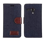 PU Leather Denim Case for Motorola Moto G