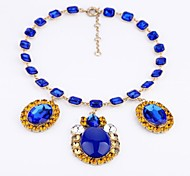 Yellow / Blue Statement Necklaces Party / Daily Jewelry