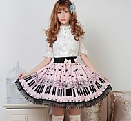 Clave Lolita Pretty Pink and Cat Princess Kawaii Falda encantadora Cosplay