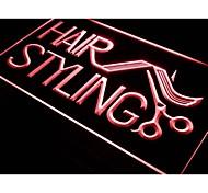 i517 Hair Styling Salon Cut Shop Neon Light Sign