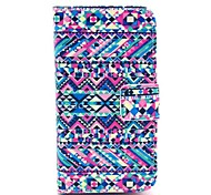 Complex Graphics Design PU Full Body Case with Card Slot for iPhone 4/4S