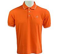 TTYGJ Men's Combed Cotton Short Sleeve Orange Polo Shirt