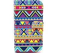 Tribal Carpet Pattern PU Leather Case with Card Holder and Stand for Samsung Galaxy I8160