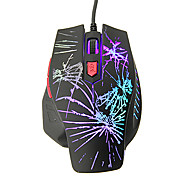 KN-208 Shift LED High Definition Optical Wired Gaming Mouse(800/1200/1600/2400DPI)