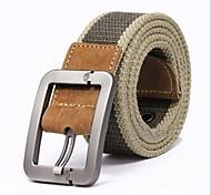 Uomo Alta Moda Canvas Grade Pin Buckle Belt