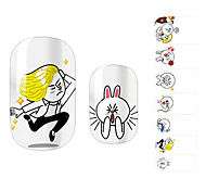 28PCS Funny Cartoon Design Stickers Nail Art
