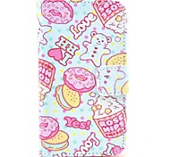 Rose Hips Pattern PU Leather Case with Card Holder for Samsung Galaxy I8160