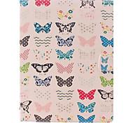 Carta di colore taglio Caso Corpo piccola farfalla di PU completo con supporto per iPad 2/3/4