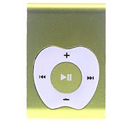 Apple Button Design Clip MP3 Player with TF Card Reader (Yellow)