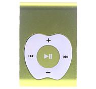 Apple-Knopf-Entwurf Clip MP3-Player mit TF-Kartenleser (Gelb)
