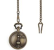 Retro Shanghai Oriental Pearl Muster Metallic-Taschen-Uhr (1 St.)