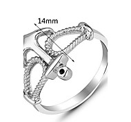 Genuine 925 Sterling Silver Fashion Brand Designer Jewelry Finger Silver Anchor Rings