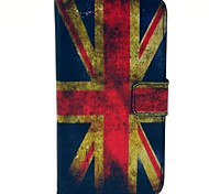 Retro Flag UK modello Cuoio Hard Case con Stand e carte per HTC Desire 310