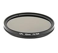 Circular Negro 62mm CPL polarizador Boarder filtro de la cámara