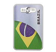 A Copa do Mundo portátil 6000mAh Power Bank com 4 in1 Connector (5V 1A, 5V 2A) (Brasil)