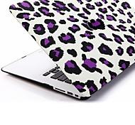 """Lila Leopard-Muster Kunststoff-Schutzhülle Hartschale MacBook Air 13 """""""