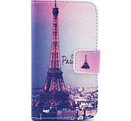 Signature Eiffel Tower Pattern PU Leather Case with Card Holder for Samsung Galaxy I8160