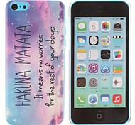Hakuna Matata Pattern Plastic Hard Case for iPhone 5C