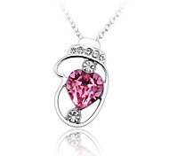Women's Fashion Love Gloves Necklace Made with Swarovski Elements