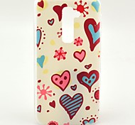 Flower and Heart Pattern Hard Case for HTC G2/D801 Magic