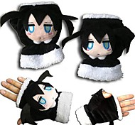 Gloves Inspired by Vocaloid Black Rock Shooter Anime Cosplay Accessories Gloves Black Polar Fleece Male / Female / Kid