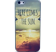 Sun Is Comming Here Pattern Hard Case for iPhone 5C