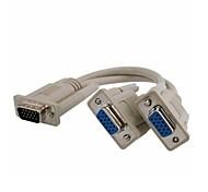 VGA Macho para 2 Dual VGA SVGA Vídeo Feminino Y Splitter Cabo do monitor