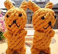 Rope Weaving Rabbits Toy for Pets Dogs Cats (1-Piece, Random Color)