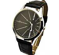 Women's Fashion Style Leather Band Quartz Wrist Watch(Assorted Colors)