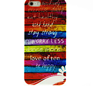 Wood Letter Pattern Hard Case for iPhone 4/4S