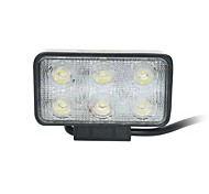 18W Flood 6000K 6-Epistar LED Double-lines Square Work Light Bar DIY used in Car/Boat/Auto Headlight
