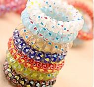 Coreano de doces coloridos de telefone da linha elástica laços de cabelo