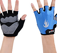 IFire Breathable Mesh Half Finger Blue Cycling Gloves
