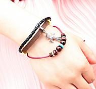Unisex's Cross Jewelry Leather Braided Bracelets