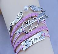 Women's One Direction Stone Mandrel Handmade Woven Bracelet(Assorted Color)