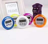 Plastic The Kitchen Eletronical Timer, Color Random 6.5x6.5x2cm