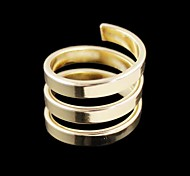 Punk style metal ring for women