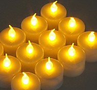 12pcs Flickering LED Battery Operated Tea Lights for Wendding Party