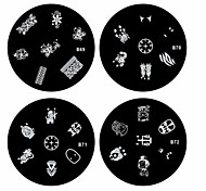 1PCS Nail Art Stamp Stamping Image Template Plate B Series NO.69-72(Assorted Pattern)