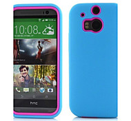 2 in 1 PC and Silicone Composite Case  for HTC One M8(Assorted Colors)