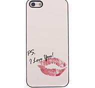 rote Lippen Design Aluminium Hard Case für das iPhone 4/4S