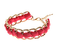 Classic Multicolor Fabric Golden Tennis Bracelets(1 Pc)