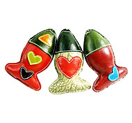 Fish Shape Genuine Leather Chewing Toy  for Pets Dogs(Random  Colors)