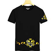 One Piece Black Cotton Cosplay T-shirt