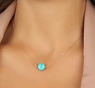 Жен. Ожерелья с подвесками Бижутерия Резина Бирюза Сплав Базовый дизайн европейский бижутерия Бижутерия Назначение Для вечеринок