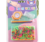 Z&X®  Loom Watchd DIY Fluorescent Color Rainbow Weaving Rubber Band Watch Suits