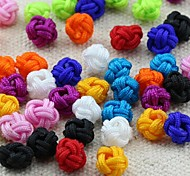 Z&X®  DIY Beads Material Colored Pineapple Knot Fabric Beads 30 PCS(Random Color, Pattern)